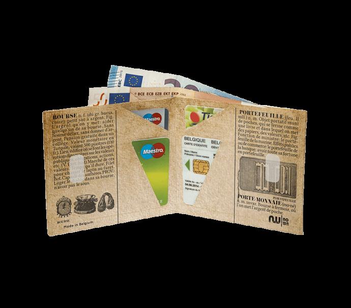 Portefeuille design ancien en papier recyclable