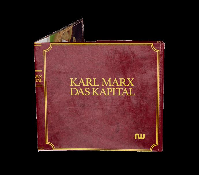 Portefeuille design couverture de livre Karl Marx