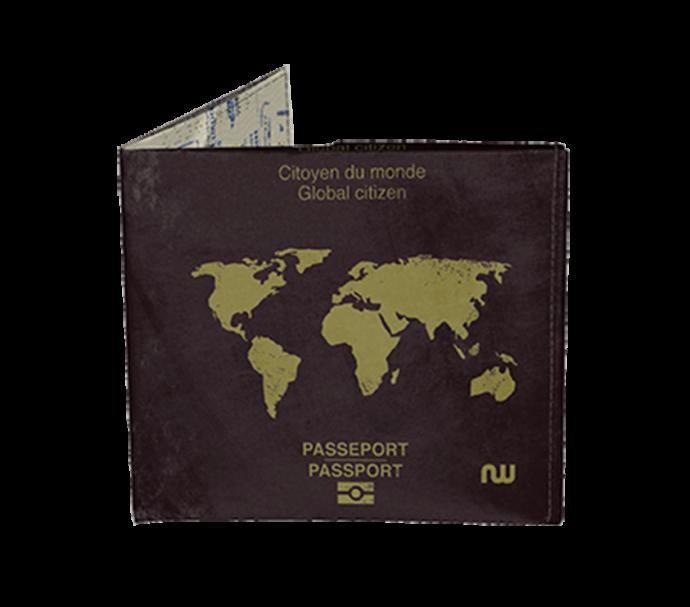 Portefeuille passeport ultra fin