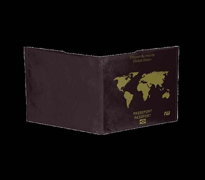 Portefeuille carte du monde ultra plat