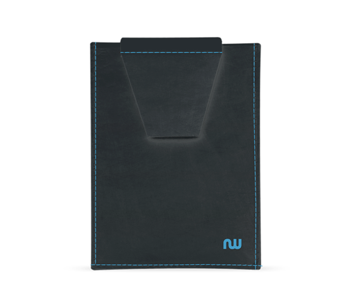 Porte-carte extra plat noir et bleu