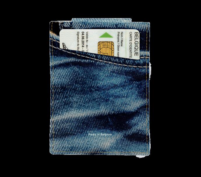Porte carte pour homme en jeans taille carte d'identité