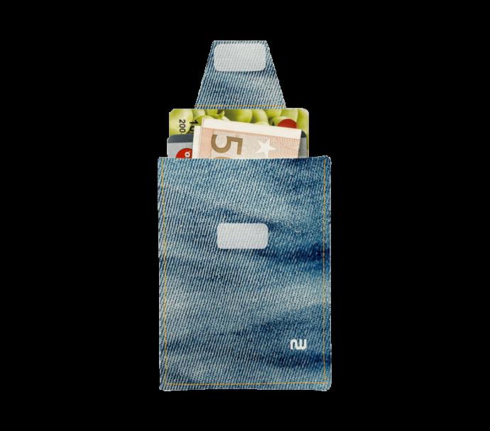 Porte carte pour homme en jeans