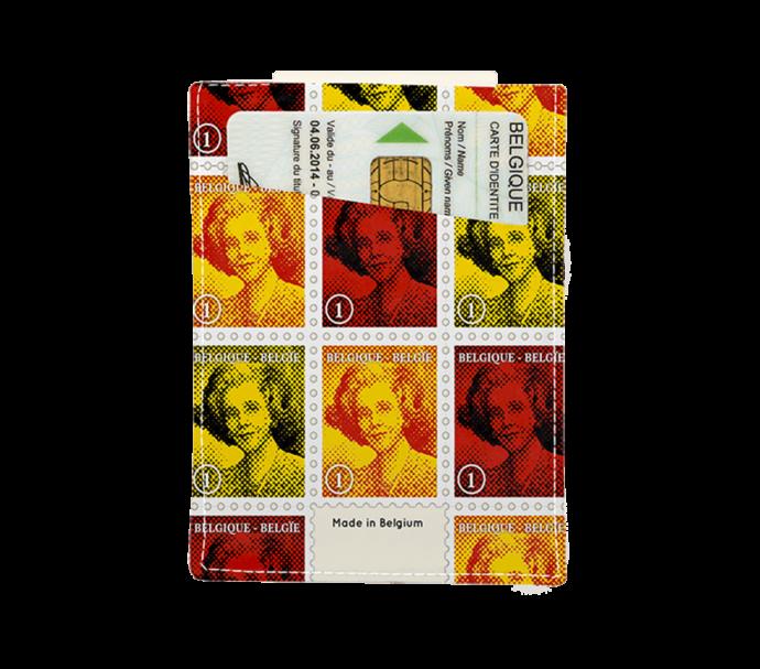 portefeuille carte d'identité avec des timbres belge