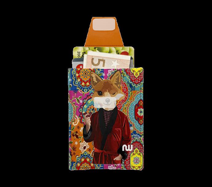 portefeuille carte d'identité avec un renard design