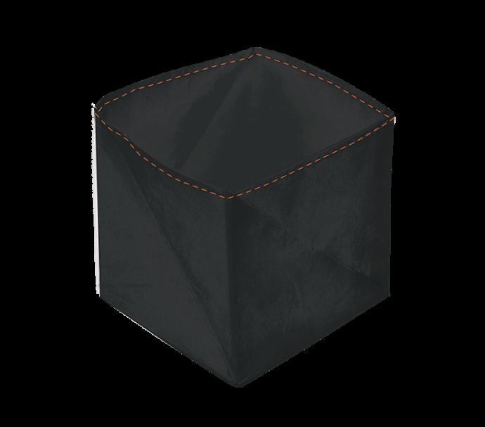 Porte monnaie origami noir en papier tyvek