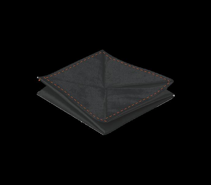 Porte monnaie origami noir ultra plat