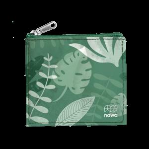 Porte-Monnaie vert avec un zip de la marque nowa