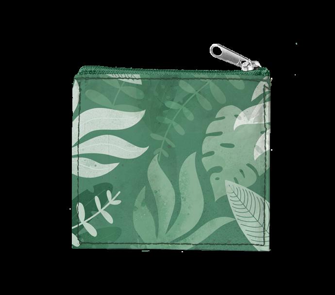 Porte-Monnaie vert avec tirette ultra plat