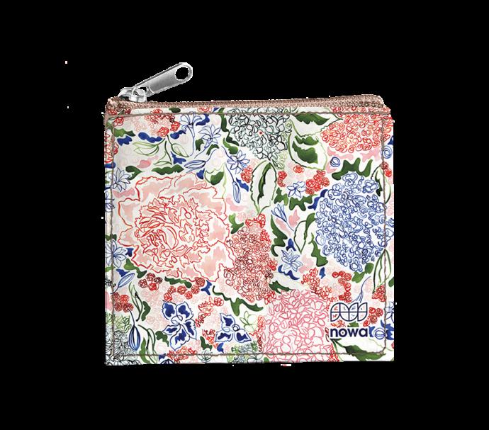 Porte-monnaie zip pour femme ultra plat en récup vintage